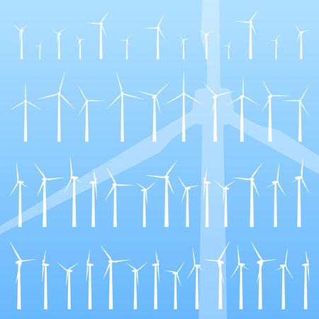 wind turbines: Wind electricity generators background for poster