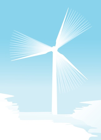 windpower: Wind electricity generators background for poster