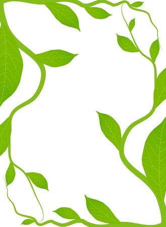 Green leaves background for poster Stock Vector - 13444873
