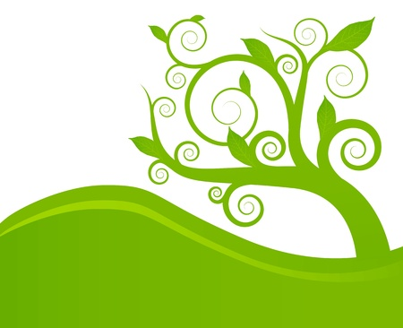 Green leaves background for poster Stock Vector - 13412717