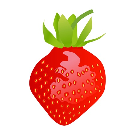 Beautiful and sweet strawberry sun burst background Stock Vector - 13444785