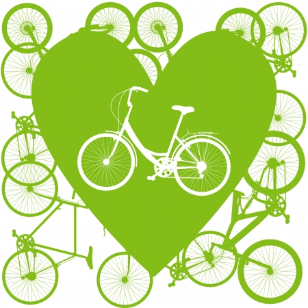Vintage bicycle illustration love concept vector Vector