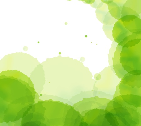 Artistic green splash vector background card Illustration