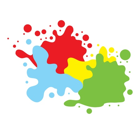 Color splashes vector background Stock Vector - 13820840