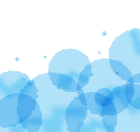 Artistic blue splash vector background Vector