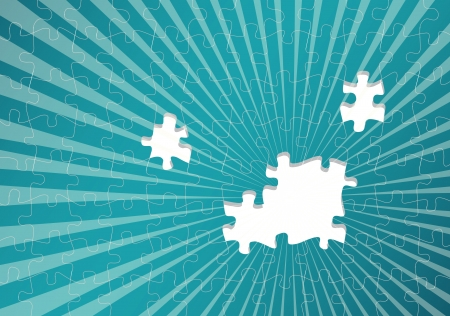 cross match: Jigsaw puzzle vector background for poster