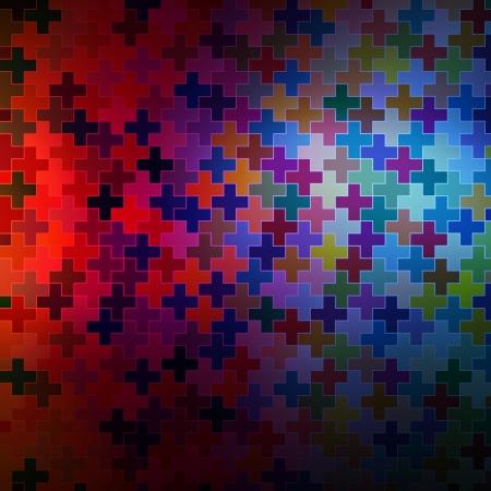 Neon abstract design on dark background vector Vector