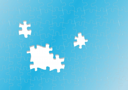 absence: Jigsaw puzzle vector background for poster