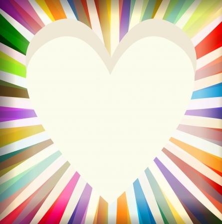 starbursts: Estallido del coraz�n tarjeta de vectores de fondo