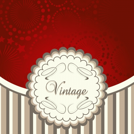 Vintage menu vector red background for poster Vector