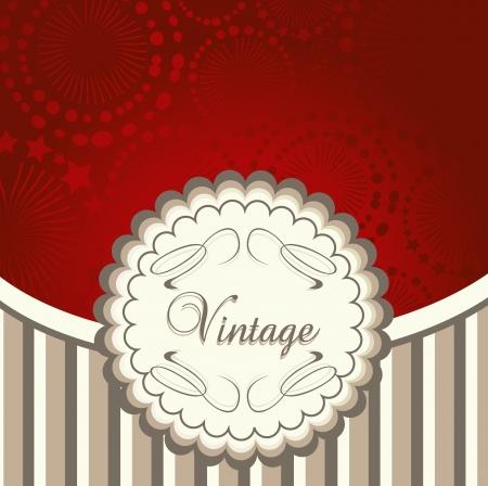 Vintage menu vector red background for poster Vector