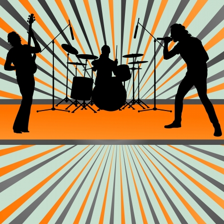 Rock concert band burst background vector for poster Vector
