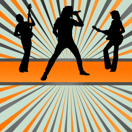 music band: Rock concert band burst background vector for poster