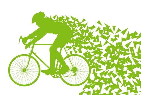生態バイク運転のポスターのためのベクトルの背景概念