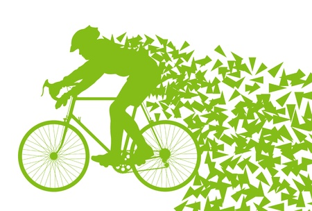 road bike: Ecology bike driving vector background concept for poster Illustration