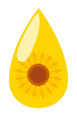 Sunflower seed oil drop vector background energy concept for poster Vector