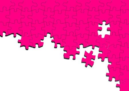 unfinished: Resumen rompecabezas de color rosa de fondo de vectores con lugar para el contenido