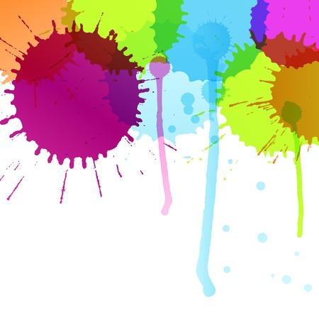 Color splashes vector background for poster
