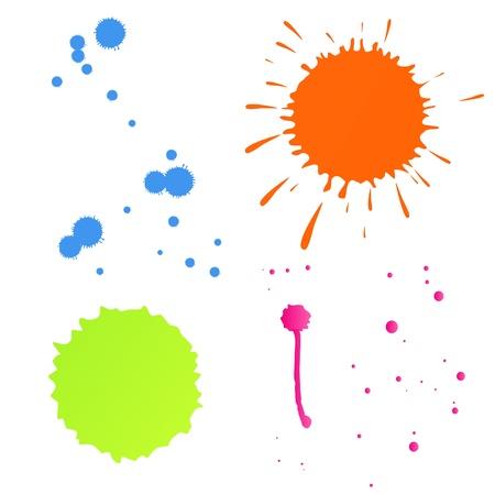 splash paint: Color splashes vector background for poster Illustration