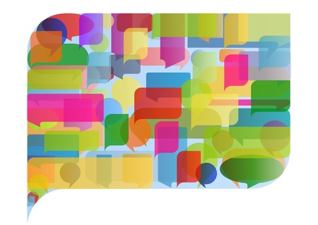 gossiping: Colorful speech bubble illustration concept background vector