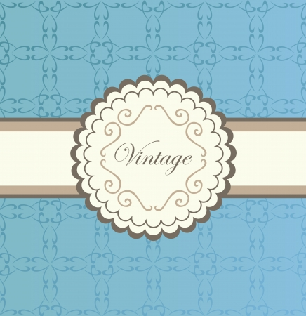 Vintage vector background with blue elements for poster Vector