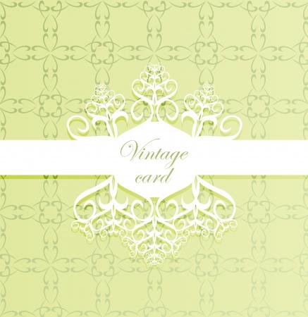 Green vintage card design Stock Vector - 15272094