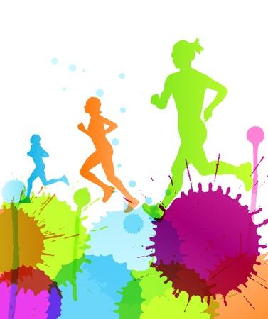 colori: Runners astratto colore di sfondo vettoriale iniziale per manifesto Vettoriali
