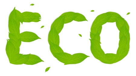 ECO made of leaves vector concept Vector