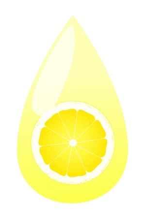 Lemon juice splashing drop vector background concept Stock Vector - 15795107