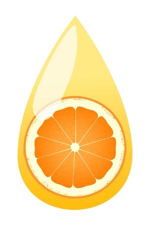 soda splash: Orange juice splashing drop vector background concept