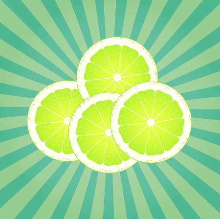 lime juice: Lime abstract background vector with burst for poster