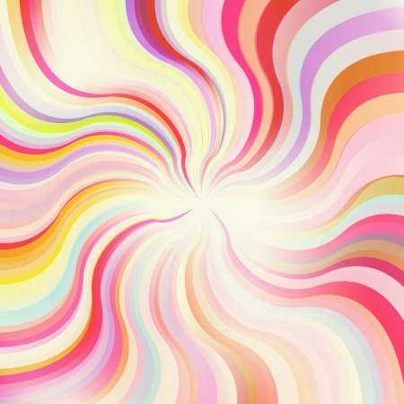 psychedelic: Abstract sunburst vector background for poster