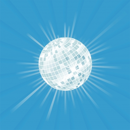 disco backdrop: Disco ball vector background with burst light for poster