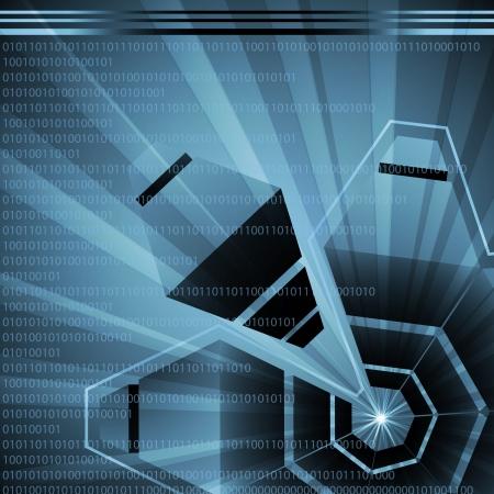Futuristic high tech abstract vector background Stock Vector - 15795271