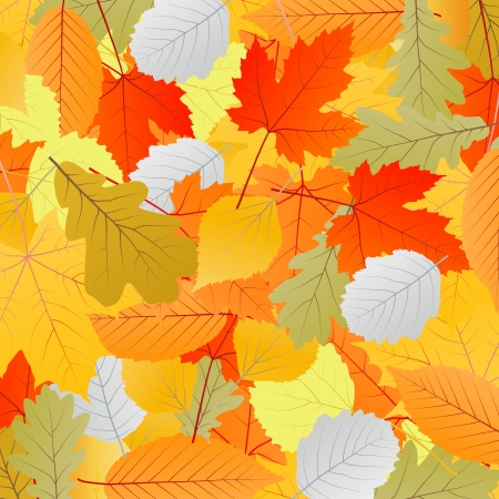 Leaves autumn vector background for poster Stock Vector - 15795334