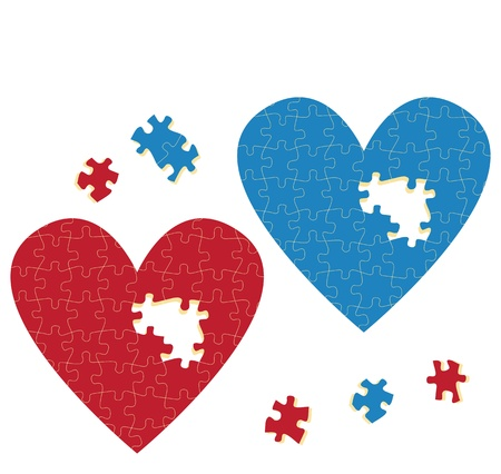 Heart puzzle vector love concept for poster Stock Vector - 15795140