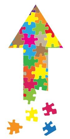 Arrow puzzle vector background concept Illustration
