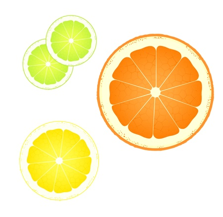 Orange, lemon and lime abstract background vector Stock Vector - 15795343