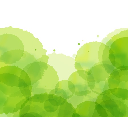 Ecology cloud green splash vector background Vector