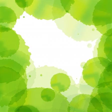 Ecology cloud green splash vector background Stock Vector - 15795179
