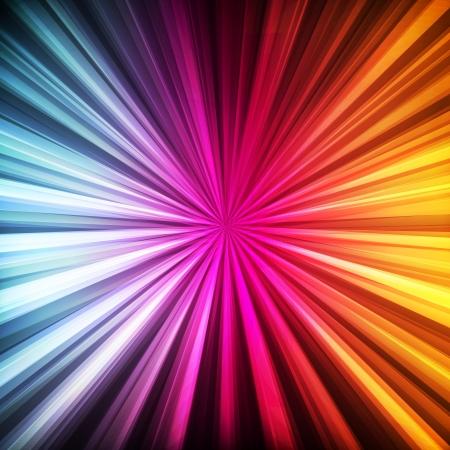 Neon abstrakten Linien-Design auf dunklem Hintergrund Vektor