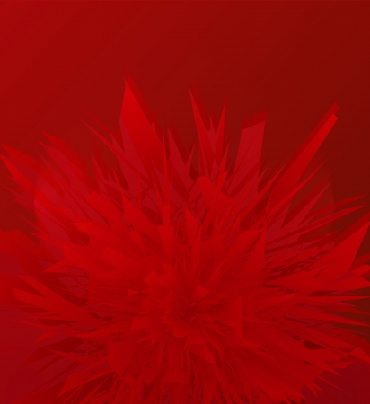 Abstract geometric red glass vector background Vector