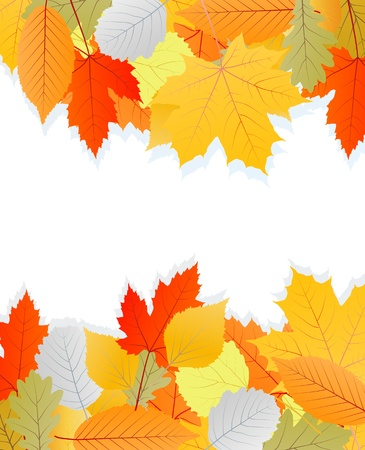Leaves autumn vector background for poster Stock Vector - 15795316