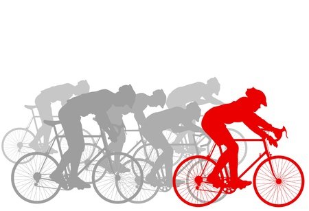 tense: Cyclist leader winner background vector