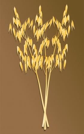 Combine harvesting crop in grain fields background vector illustration Stock Vector - 16289031