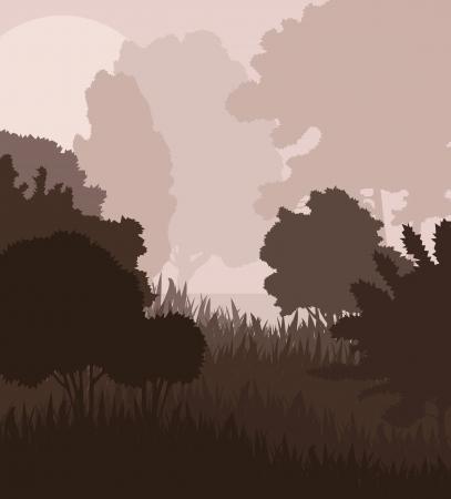 Natural landscape vector background for poster Stock Vector - 16289087
