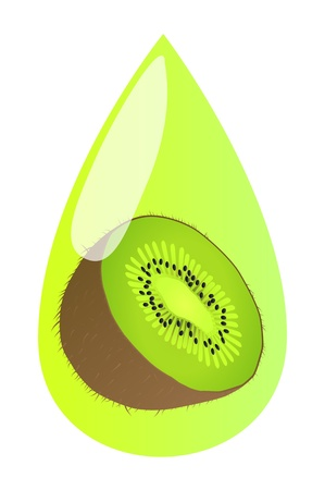 water flow: Kiwi juice vector background for poster