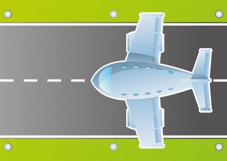 Plane in sky cartoon background vector for poster Stock Vector - 16289046
