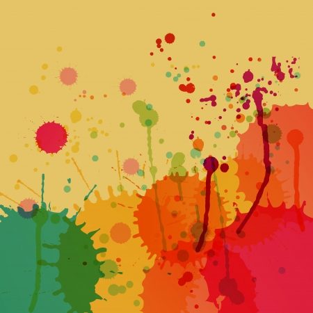 Colorful splashes vector background for poster Stock Vector - 16289120