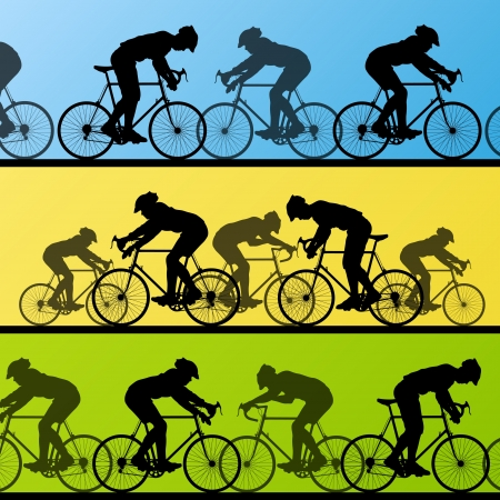 bicyclists: Cyclist leader winner background vector